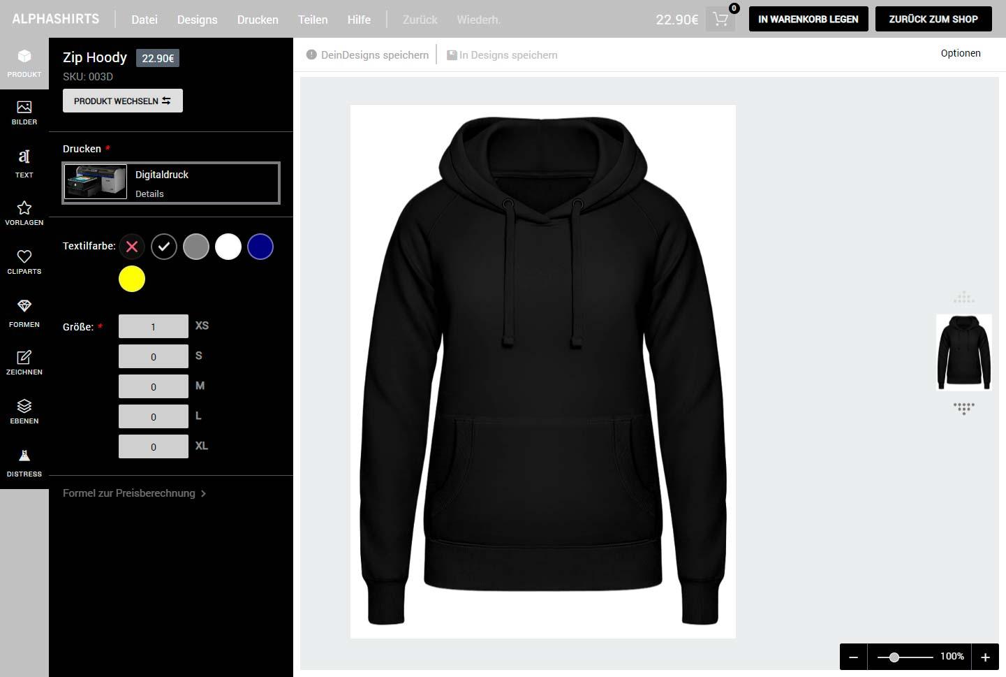 Hoodies personalisieren